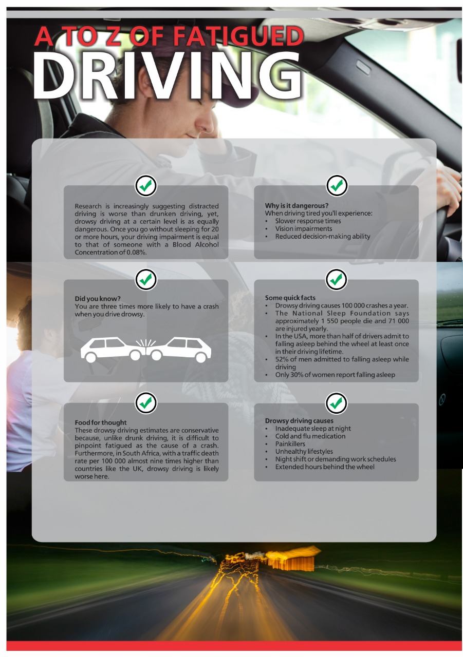 A to Z of fatigued driving